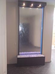 Интерьерные водопады по стеклу интерьера в Вашем доме